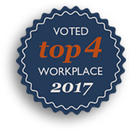 Voted Top 4 workplace 2017